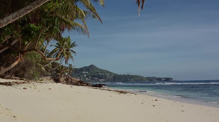 mahe : Paradise Beach in Seychelles Stock Footage
