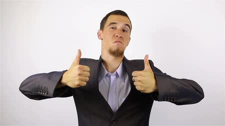 banqueiro : Thumbs up by Successful Businessman Stock Footage