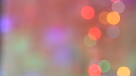 sylvester : New years birthday party colorful abstract defocused background with lights Stock Footage