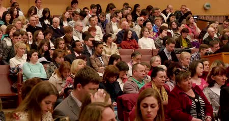 conference centre : People At Business Presentation Stock Footage