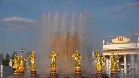 peoples : Russia, Moscow, VDNH. Fountain of Friendship of Peoples after reconstruction