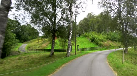 daha fazla : Drive in August on the country road Fv182 to stave church Rodven, Norway.