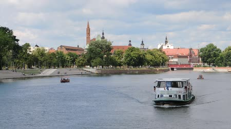 marys : Ship traffic on the Oder river in Wroclaw - Poland.