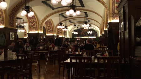 saxon : Historic restaurant Auerbachs Keller in the M?dler Passage the historic center of Leipzig - Germany. Stock Footage