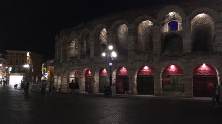 tiyatro : Arena di Verona at evening - Italy.