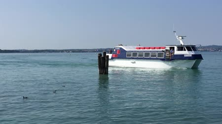 Passenger ship on Lake Garda on the way to Sirmione - Italy.