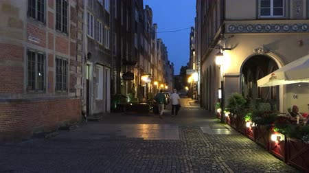 Old town of Gdansk at night - Poland.