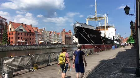 haven : Museum ship Soldek in the National Maritime Museum on the river Motlawa in Gdansk - Poland.