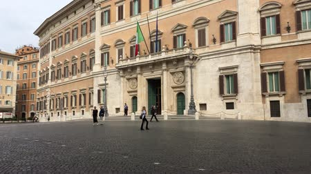 palazzo : Palazzo Montecitorio at the Piazza Montecitorio in the old town of Rome. Seat of the Representative Chamber of the Italian Parliament - Italy.
