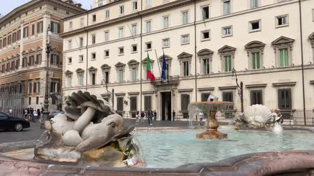 minister : Palazzo Chigi at the Piazza Colonna in Rome. Residence of the Italian Prime Minister - Italy