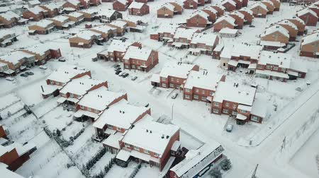 çatılar : Little Scotland village, aerial winter view. Moscow region. Russia