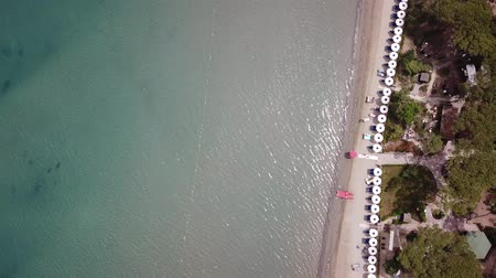 Beach in Punta Ala. Aerial view landscape