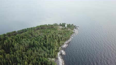 Lighthouse at Cape Besov Nos, Karelia, Lake Onega shore