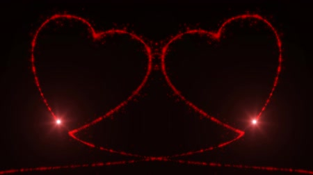 replaceable : Valentine. Two hearts. Stock Footage