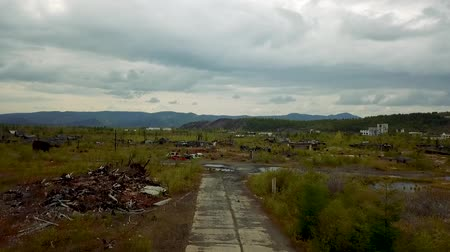 Kadykchan Ghost Town. Siberian Ghost Town Built by Gulag Prisoners During World War Ii. Kolyma Magadan Region Dostupné videozáznamy