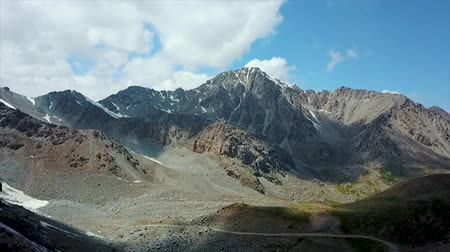 pamir : Valley Mountain Landscape Kyrgyzstan. Western Kyrgyzstan Pamir Mountains Landscape. Travel Asia. Stock Footage