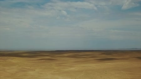 Beautiful Views of the Desert Landscape. Gobi Desert. Sand Dunes in Gobi Desert. South East of Mongolia. Dostupné videozáznamy
