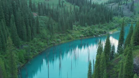 dead valley : Kaindy Lake in Kazakhstan Known Also as Birch Tree Lake or Underwater Forest.