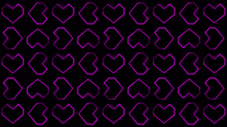luty : The Heart Backgrounds Motion Graphics Featuring Valentine%u2019s Day Animated Shapes and Particles. Wideo