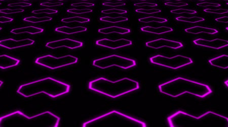 abstrakcja : The Heart Backgrounds Motion Graphics Featuring Valentine%u2019s Day Animated Shapes and Particles. Wideo