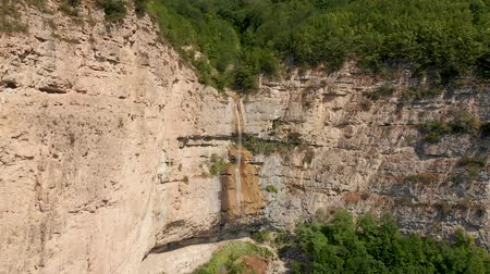 grot : Afurja Waterfall. Afurdzhi Falls Is Located in Quba Guba Azerbaijan. Stockvideo
