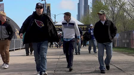 super bowl : Chicago - April 30, 2015 NFL Draft  people in the Draft Town in Grant Park. The NFL Draft returns to Chicago for the first time in 51 years on April 30