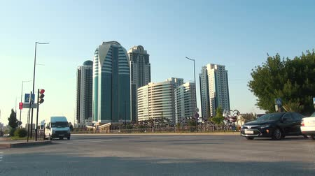 cityskyline : Grozny Russia - June 24, 2018: Buildings in the District of Grozny City the Capital of the Chechen Republic of the Russian Federation.