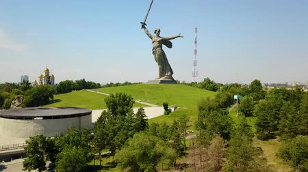 назад : Aerial Shot Of the Motherland Statue in Mamaev Kurgan. Stalingrad  Volgograd. Visitors and Tourists of the Memorial Complex on the Anniversary of Victory in Great World War II.