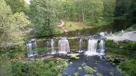 известняк : Aerial Landscape of the Keila Waterfall Estonia Located on Keila River in Harju County. A Full 6 Metres High, and Tens of Metres Wide, is the Third Largest Waterfall in Estonia