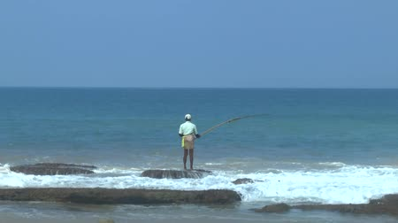 subsistence : Tropical coastline ,Sri Lanka. Stock Footage