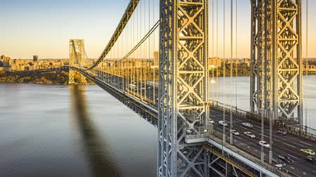 George Washington Bridge hyperlapse op een zonnige middag