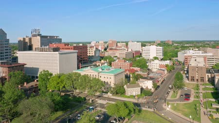 governor : Drone footage of Trenton downtown on a sunny afternoon with camera panning along the skyline. Trenton is the capital city of the U.S. state of New Jersey and the county seat of Mercer County