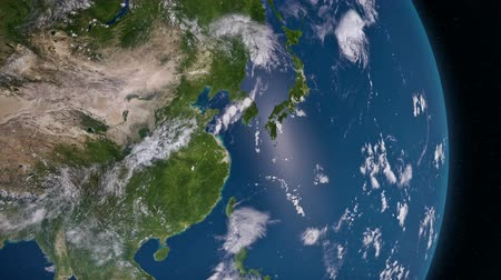 north vietnam : Earth 3d view from space. Asia. Stock Footage