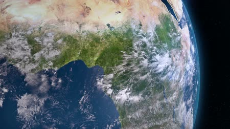 чад : Earth 3d view from space. Central Africa.