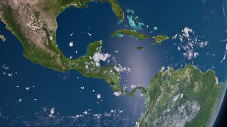 kuba : Earth 3D view from space. Central America and Caribbean Sea