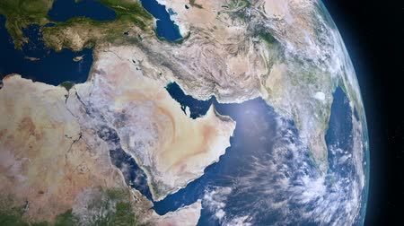 yemen : Earth 3d view from space. Middle East