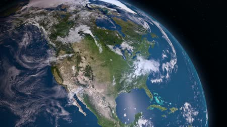 meksyk : Earth 3d view from space. North America Wideo