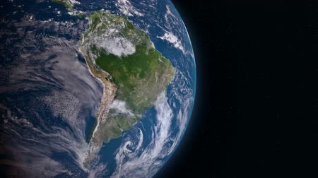 földgolyó : Earth 3d view from space. South America