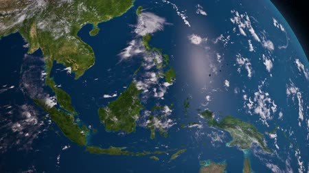 földgolyó : Earth 3d view from space. South East Asia
