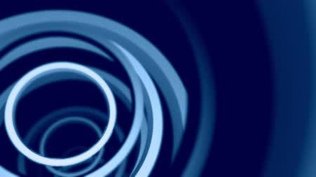 неон : Blue neon rings.  Seamless perfect loop. Mesmerizing background animation of flying through a wormhole made of rings. Стоковые видеозаписи