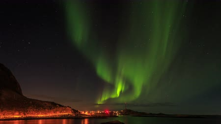 полярный : Northern Lights in Norway Стоковые видеозаписи