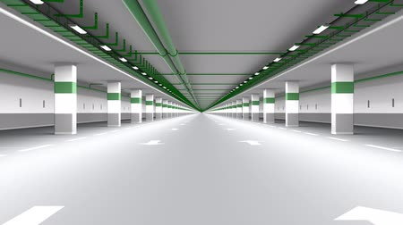 tekrarlama : Underground parking endless moving. Seamless