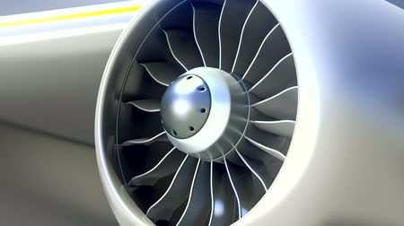 silnik : Closeup of Airplane Engine, Loop Video Wideo