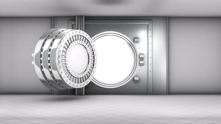 bancos : bank vault door, front view Stock Footage