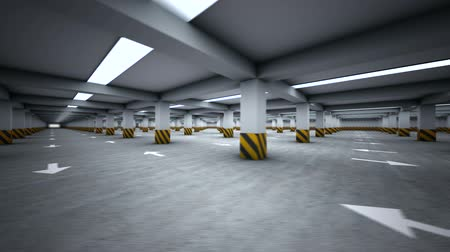 cement floor : Parking garage underground, industrial interior rotating cycled