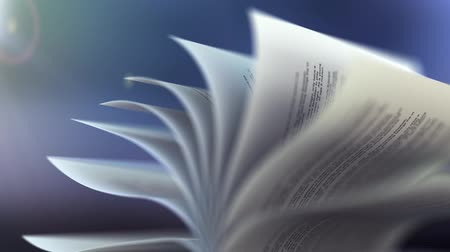 livros : Book slow motion repeatly move Stock Footage