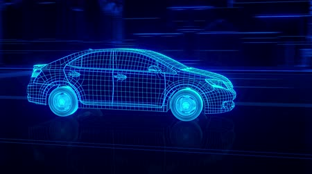 electric : Abstract 3D Car Animation Stock Footage