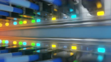 serwerownia : server room loop ready animation 3d rendering Wideo