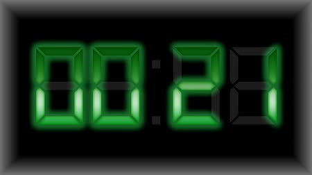 countdown leader : Countdown electronic timer display