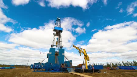 rigs : Oil rig, Power of Siberia. Stock Footage